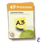 Printation Laminierfolie A3 2x 175 mic 426 x 303mm - 25 Laminiertaschen