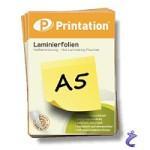Printation Laminierfolien A5 2x 80 mic 216 x 154mm - 25 Laminiertaschen