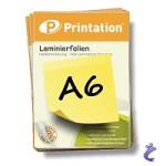 Printation Laminierfolien A6 2x 175 mic 111x154mm - 100 Laminiertaschen