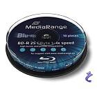 MediaRange 10x BD-R 25GB 4x Blu-ray Rohlinge 10er Spindel / Cake MR495