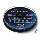 MediaRange BD-RE 25GB 2x Blu-Ray Rohlinge rewritable 10x Spindel MR501