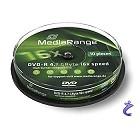 MediaRange 10x DVD-R 4,7GB 16x Cake10 MR452 DVD Rohlinge auf Spindel