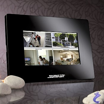 somikon 7 17 8cm wlan tft berwachungs monitor f r ip cams. Black Bedroom Furniture Sets. Home Design Ideas
